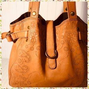 Lucky Brand Italian Leather Hobo Handbag